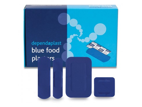 PLASTERS DETECTABLE ASSORTED SIZE BLUE