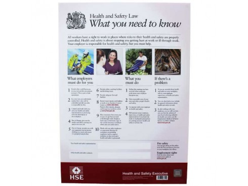 POSTER HEALTH AND SAFETY 595X15MM