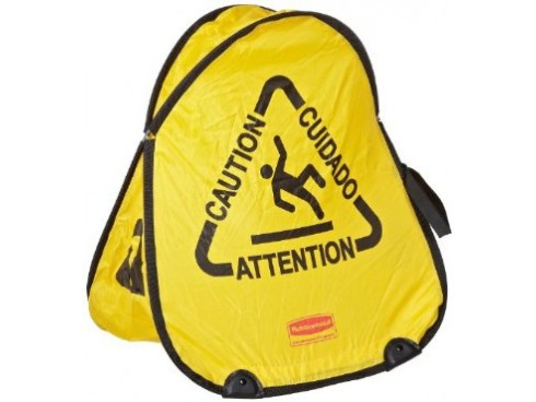 CONE FOLD SAFETY  MULTILINGUAL 'WET FLOOR'