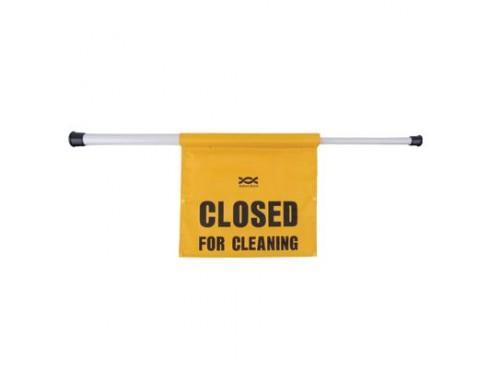 SIGN DOOR HANGING 'CLOSED FOR CLEANING'