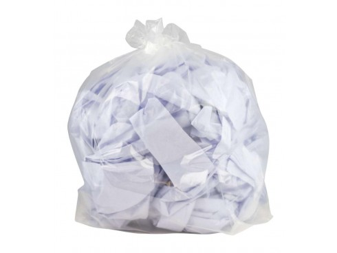 """SACK REFUSE MED DUTY CLEAR 18X29X38"""" 10KG"""