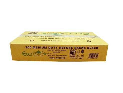 "SACK REFUSE BLACK 18X29X38"" 10KG+"