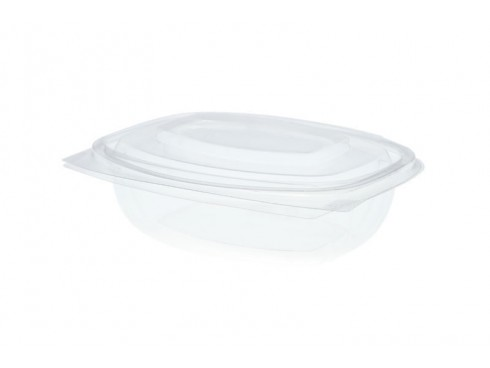 CONTAINER HINGED LID PLA 8OZ