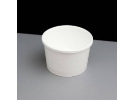 CH75930 8OZ PAPER SOUP/FOOD CONTAINER& LID
