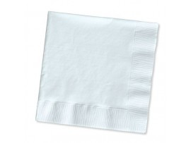NAPKIN COCKTAIL WHITE 24CM 2PLY