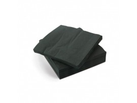NAPKIN COCKTAIL 2PLY BLACK 24CM