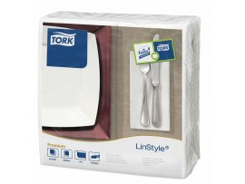 NAPKINS LINSTYLE 8 FOLD WHITE 39CM