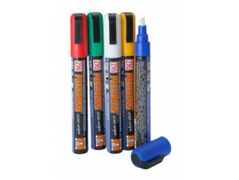 PEN MARKER WIPE CLEAN MIXED COLOUR 6MM