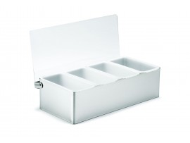CONDIMENT HOLDER 4 COMPARTMENT S/S