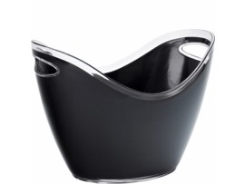 BUCKET CHAMPAGNE SMALL BLACK 20CM HIGH
