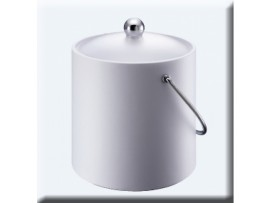 ICE BUCKET INSULATED WITH SCOOP WHITE 3LT