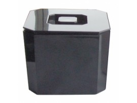BUCKET ICE OCTAGONAL BLACK 8LTR