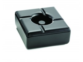 ASHTRAY WINDPROOF BLACK 5""