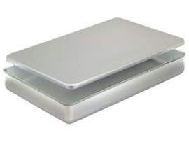 PAN BAKING WITH LID ALUMINIUM 409X267X32MM