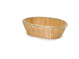 BASKET HANDWOVEN OVAL 10X6.5X3""