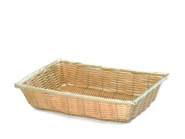 BASKET HANDWOVEN RECTANGULAR 18X12.5X3""