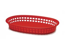 BASKET POLY 9.5OZ RED