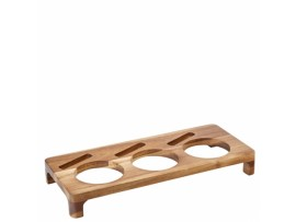 ACACIA PRESENTATION STAND WOODEN 42X18CM