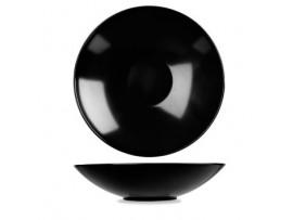 BUFFET BOWL MELAMINE BLACK 37.5X9CM