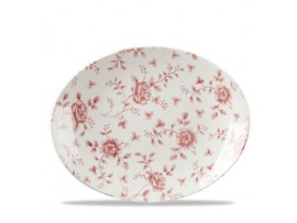 """VINTAGE PRINTS PLATE OVAL COUPE 12.5"""""""