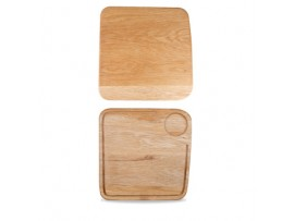 WOODEN BOARDS BOARD OAK SQUARE LARGE 29CM