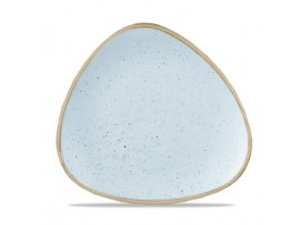 STONECAST PLATE TRIANGLE DUCK EGG 26.5CM