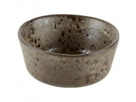 BOWL BLACK IRONSTONE 8CM
