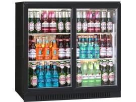 COOLER BOTTLE BLIZZARD 2 DOOR BLACK