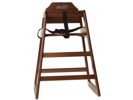 HIGH CHAIR WOODEN UNASSEMBLED WALNUT