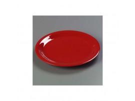 PLATE SNACK MELAMINE RED 16.66CM