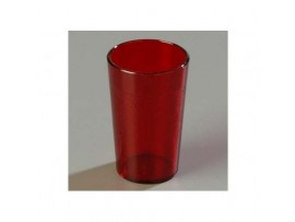 TUMBLER MELAMINE FLUTED RED 15CL
