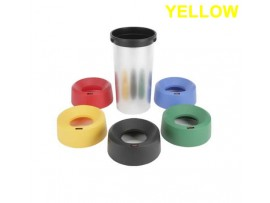 BIN LID IRIS ROUND FUNNEL YELLOW