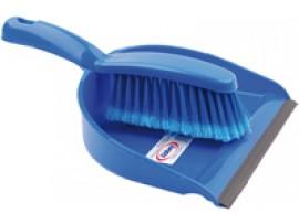 DUSTPAN AND BRUSH SOFT BLUE