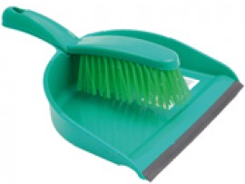DUSTPAN AND BRUSH SOFT GREEN
