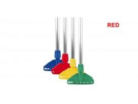 MOP HANDLE & CLIP KENTUCKY/STAYFLAT RED