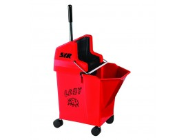 MOP BUCKET + WRINGER LADY MOP COMBO RED