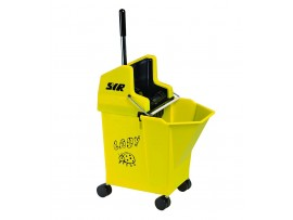 MOP BUCKET + WRINGER LADY MOP COMBO YELLOW