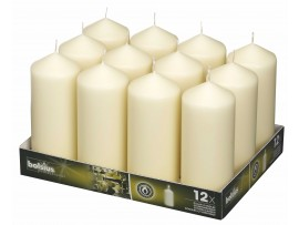 CANDLE PILLAR IVORY 168X68MM