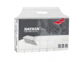 HAND TOWEL KATRIN PLUS ZZ WHITE 2PLY