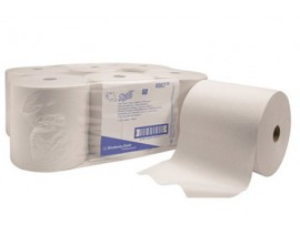 ROLL TOWEL SCOTT SYSTEM WHITE 1PLY 300M