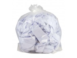 "SACK REFUSE MED DUTY CLEAR 18X25X39""15KG"