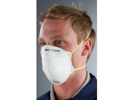 MASK RESPIRATOR DISPOSABLE UNVALVED FFP1