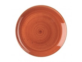 PLATE STONECAST SPICED ORANGE COUPE 11.25""
