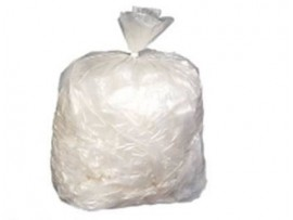SACK REFUSE CLEAR 18X29X39 10KG