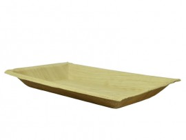 PLATE PALM LEAF RECTANGULAR 10""