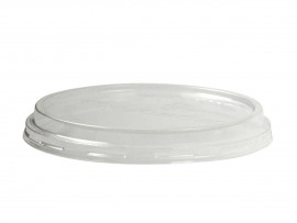 LID OUTSIDE-FIT DELI ROUND PLA 8-32OZ