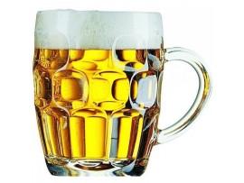 GLASS TANKARD DIMPLED BRITANNIA 1PT CE
