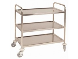 TROLLEY CLEARING S/S 3-TIER MEDIUM