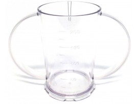 BEAKER POLYCARBONATE TWO HANDLED CLEAR