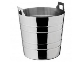 BUCKET WINE RIBBED 20CM X 19CM